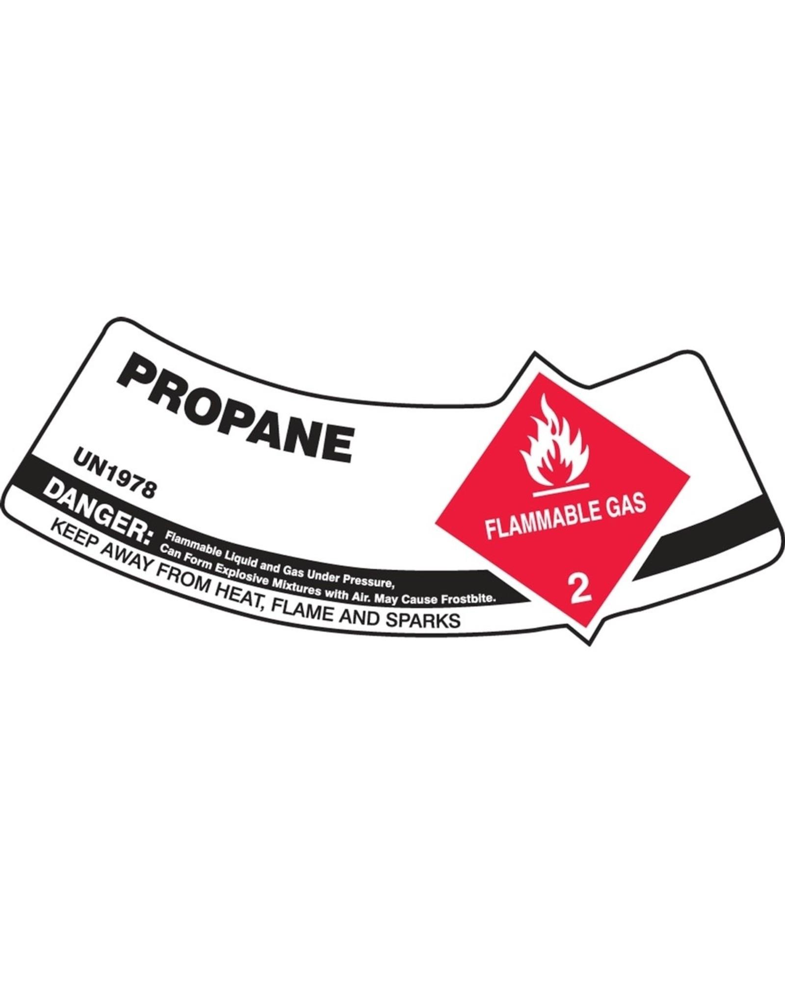 Propane Adhesive Vinyl Neck Label