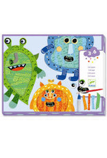 DJECO HAPPY MONSTERS TEAR AND STICK COLLAGE