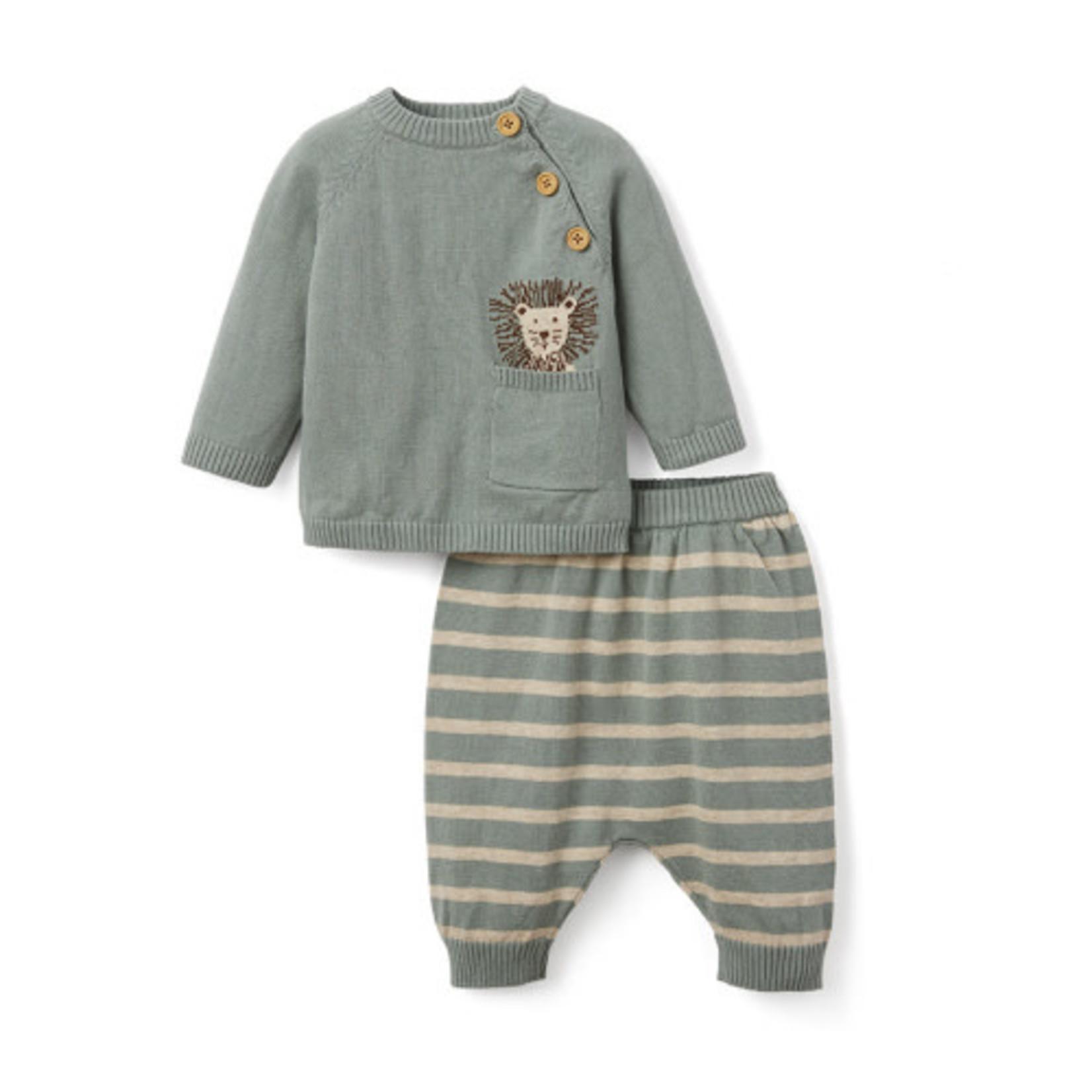 ELEGANT BABY PANT SET LION