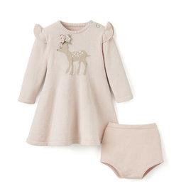 ELEGANT BABY DRESS FAWN