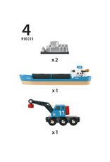 BRIO 33534 FREIGHT SHIP AND CRANE