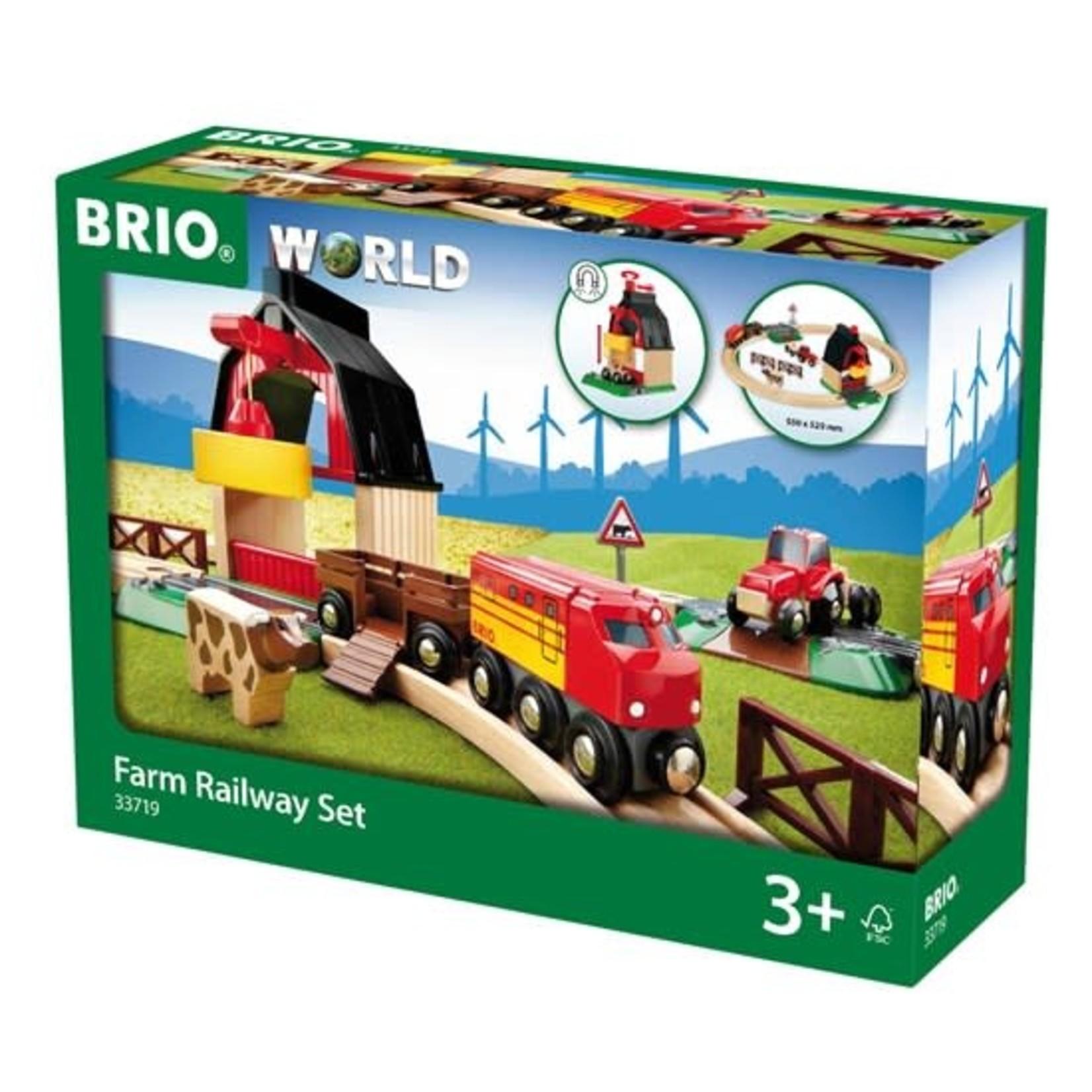 BRIO 33719 FARM RAILWAY SET