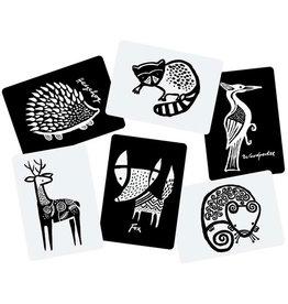WEE GALLERY WEE GALLERY WOODLAND ART CARDS