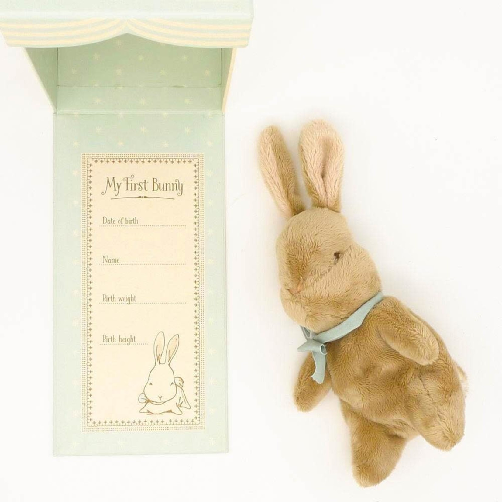 MAILEG MY FIRST BUNNY IN A BOX, BLUE
