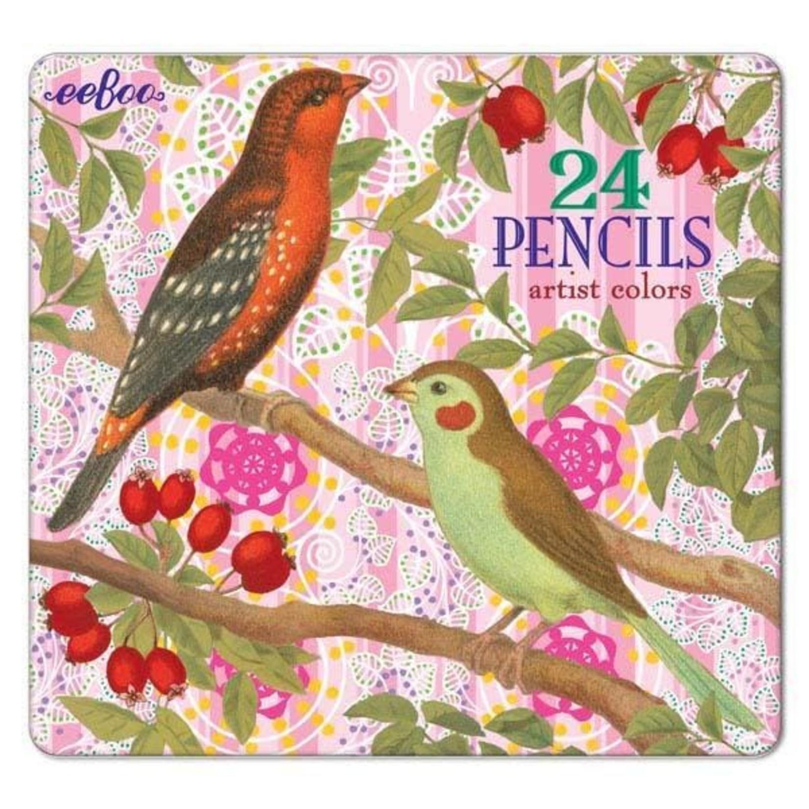 EEBOO Birds with Berries 24 Pencils