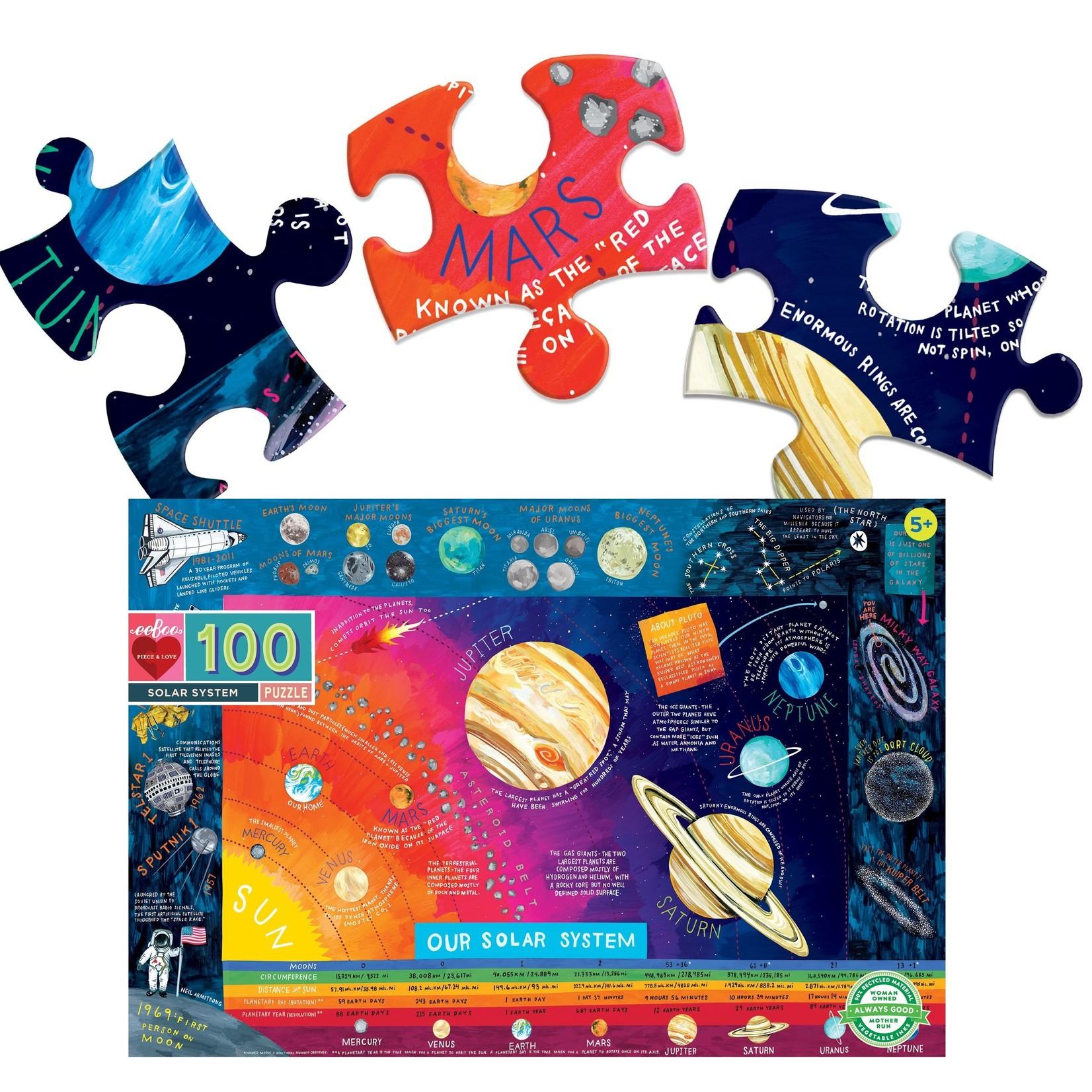 EEBOO OUR SOLAR SYSTEM 100-PIECE PUZZLE