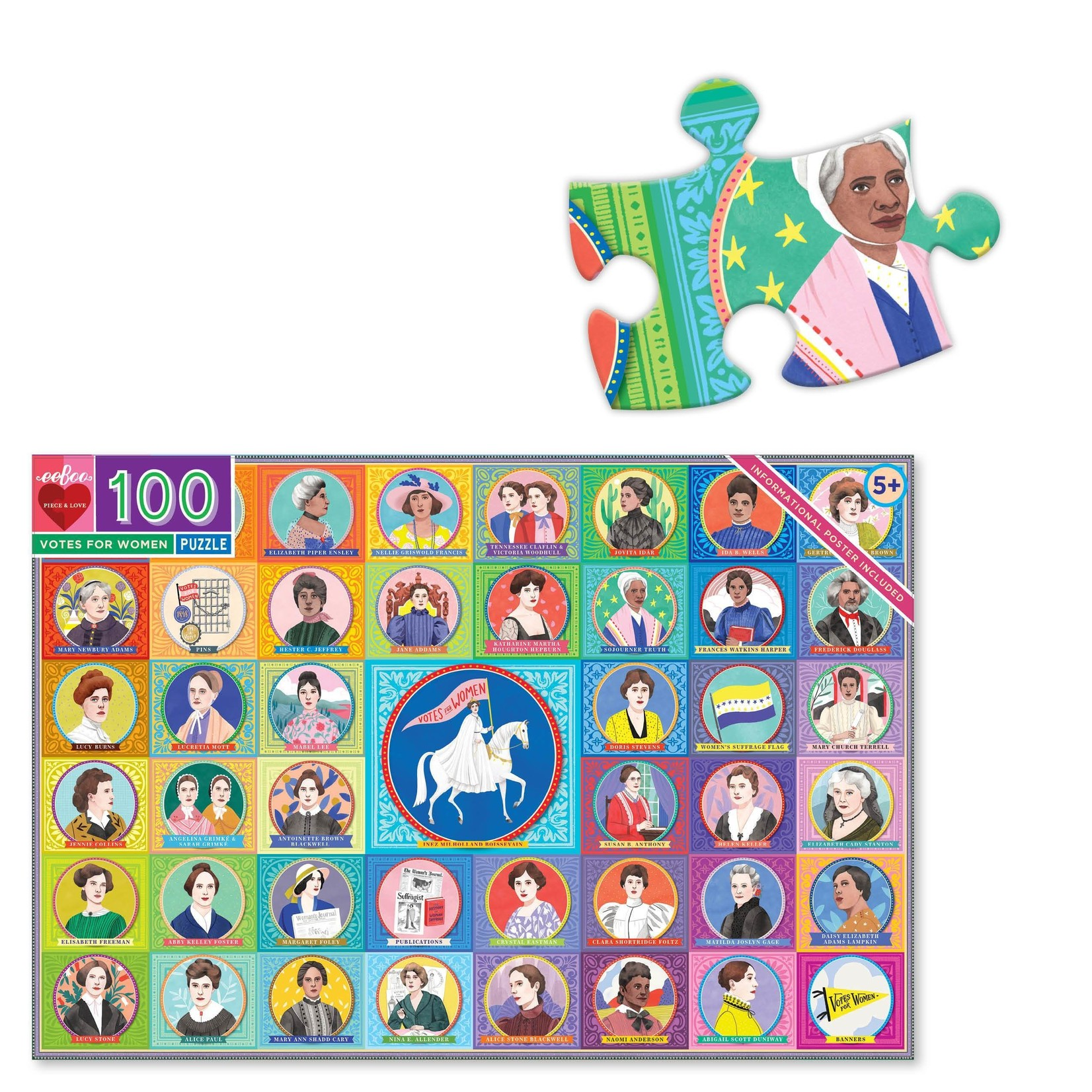 EEBOO VOTES FOR WOMEN 100-PIECE PUZZLE