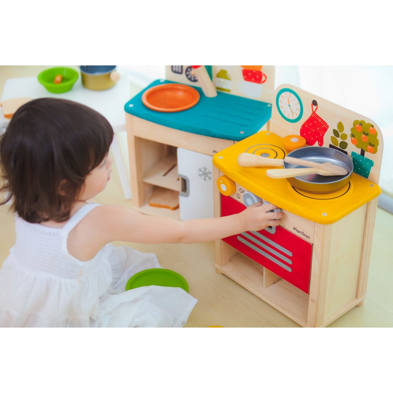 PLAN TOYS KITCHEN SET PLAN TOYS