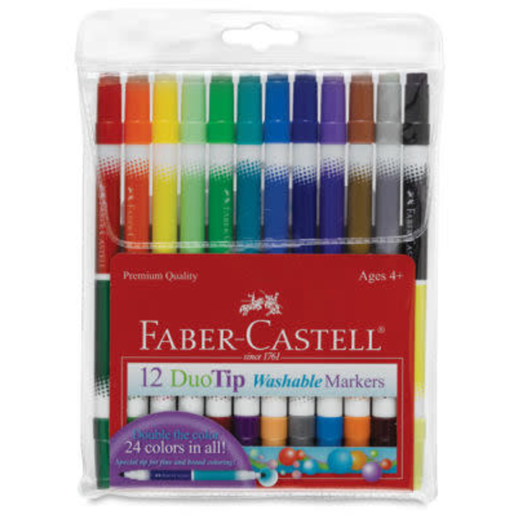 FABER-CASTELL DUOTIP WASHABLE MARKERS SET OF 12