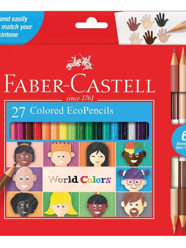 FABER-CASTELL WORLD COLORS ECO PENCILS. SET OF27