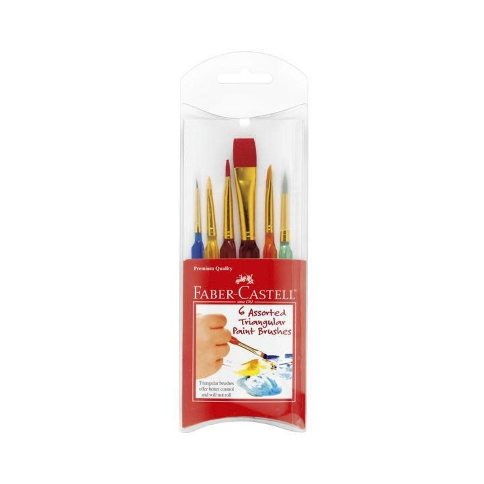 FABER-CASTELL 6 TRIANGULAR PAINT BRUSHES
