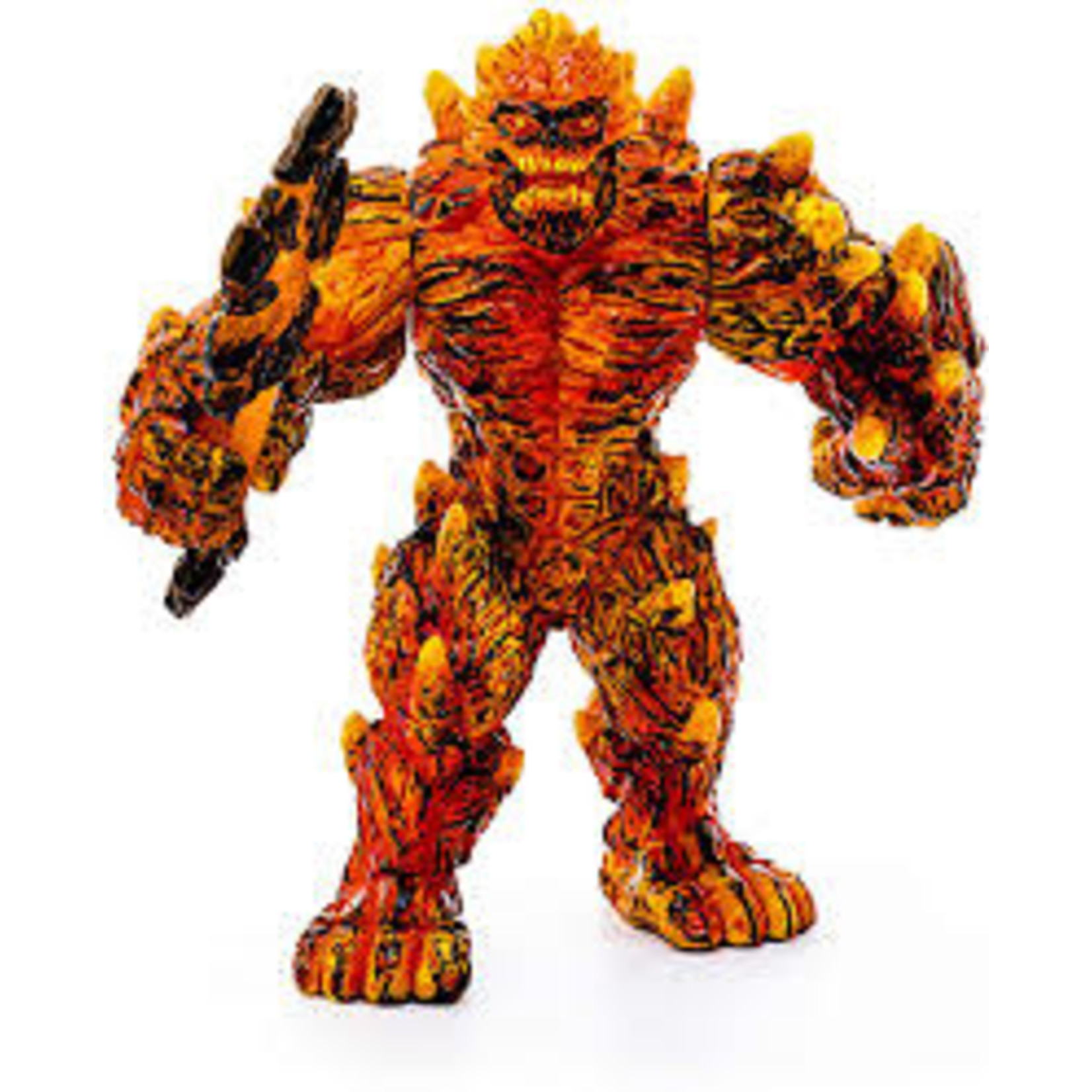 SCHLEICH LAVA GOLEM WITH WEAPON