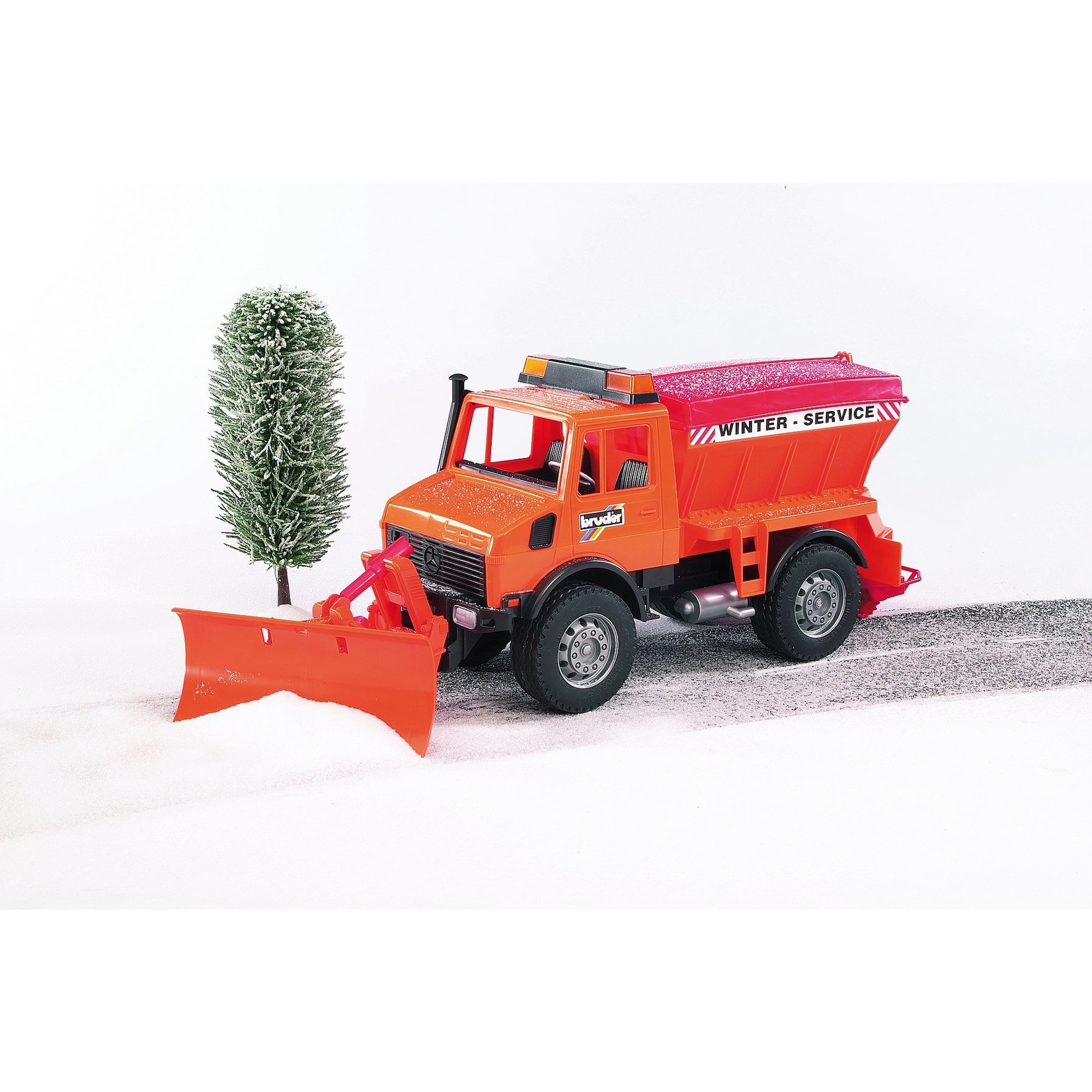 BRUDER WINTER SERVICE 02572 WITH SNOW PLOW