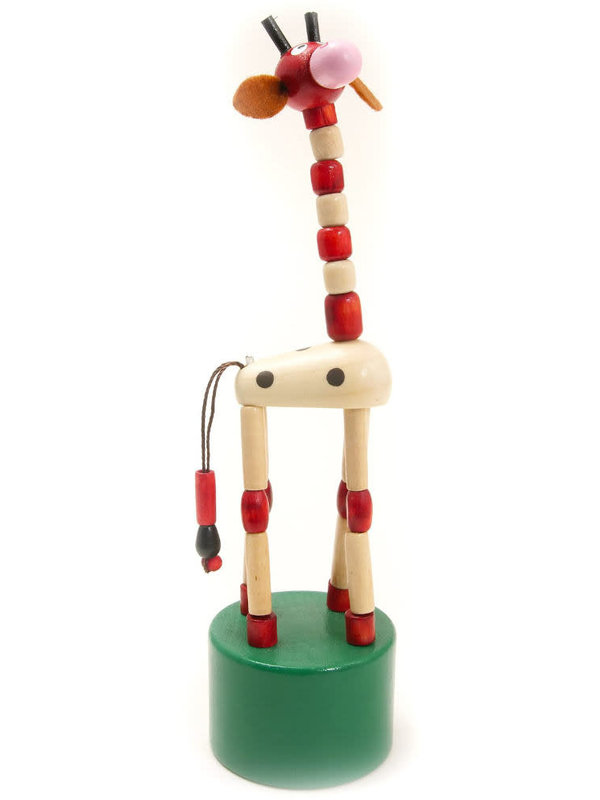 HOUSE OF MARBLES JIGGLING GIRAFFE PRESS-UP