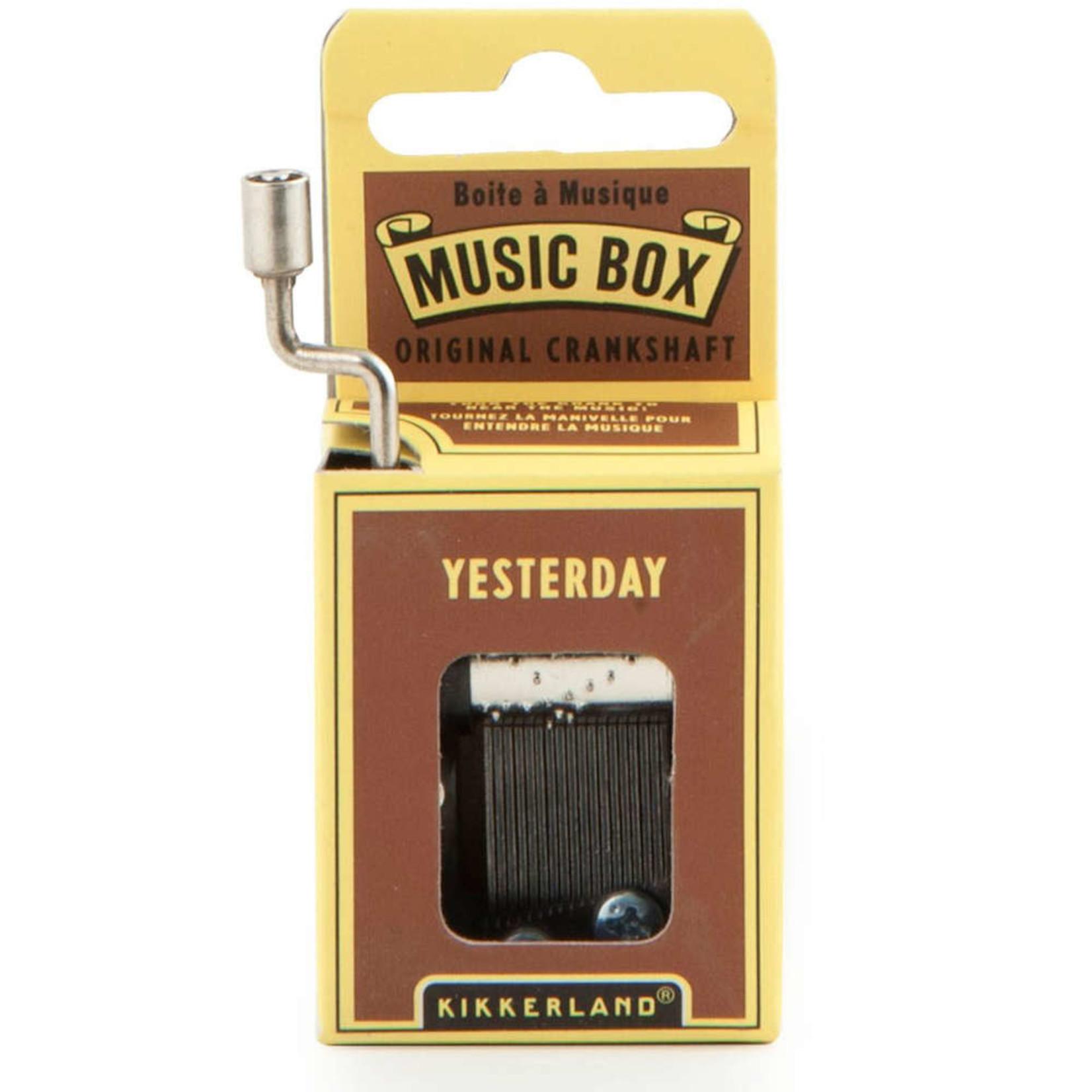 KIKKERLAND YESTERDAY MUSIC BOX
