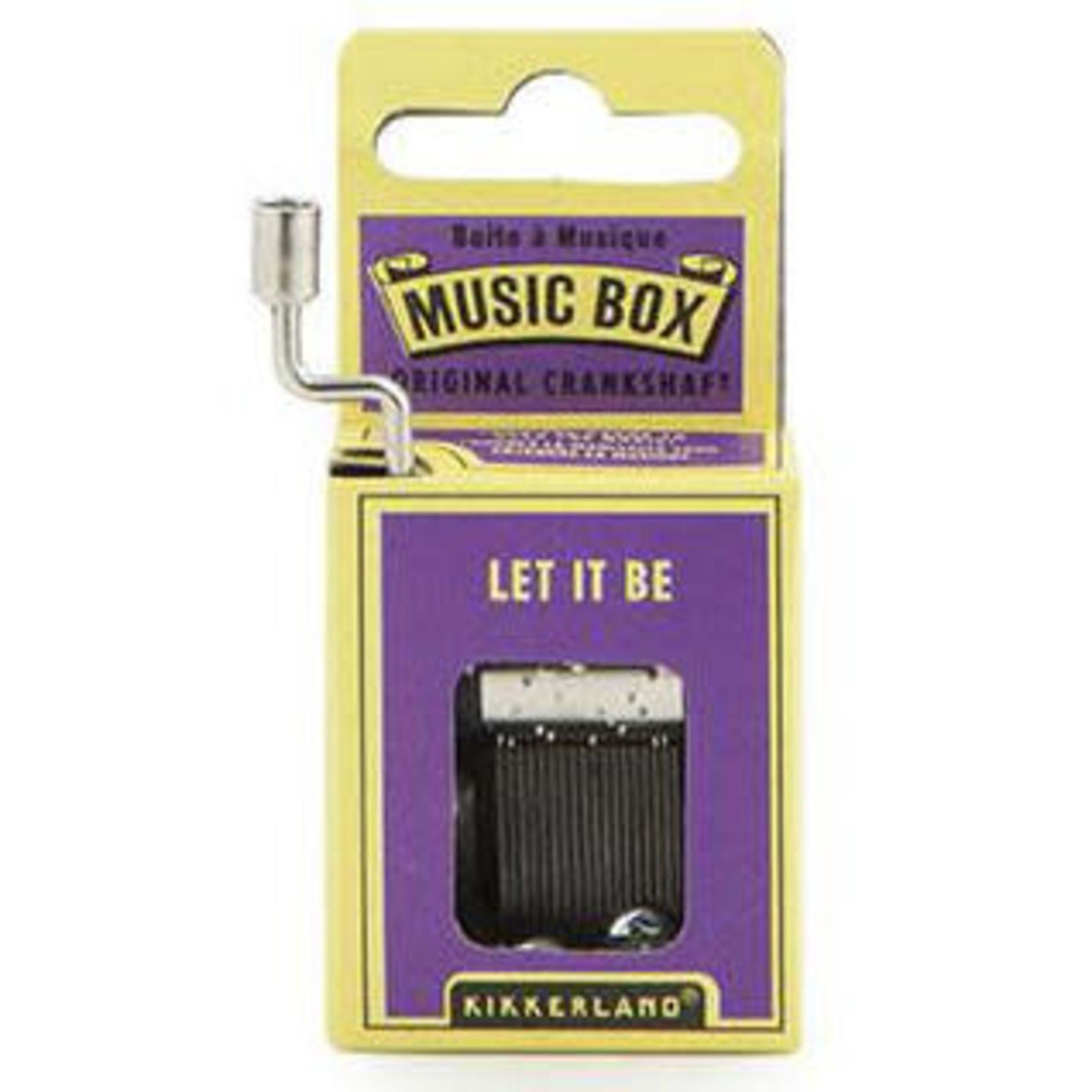 KIKKERLAND LET IT BE MUSIC BOX