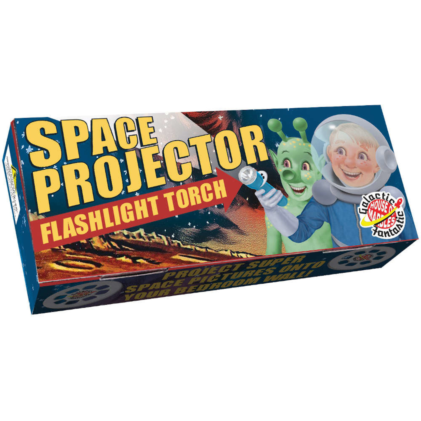 HOUSE OF MARBLES SPACE PROJECTOR FLASHLIGHT TORCH