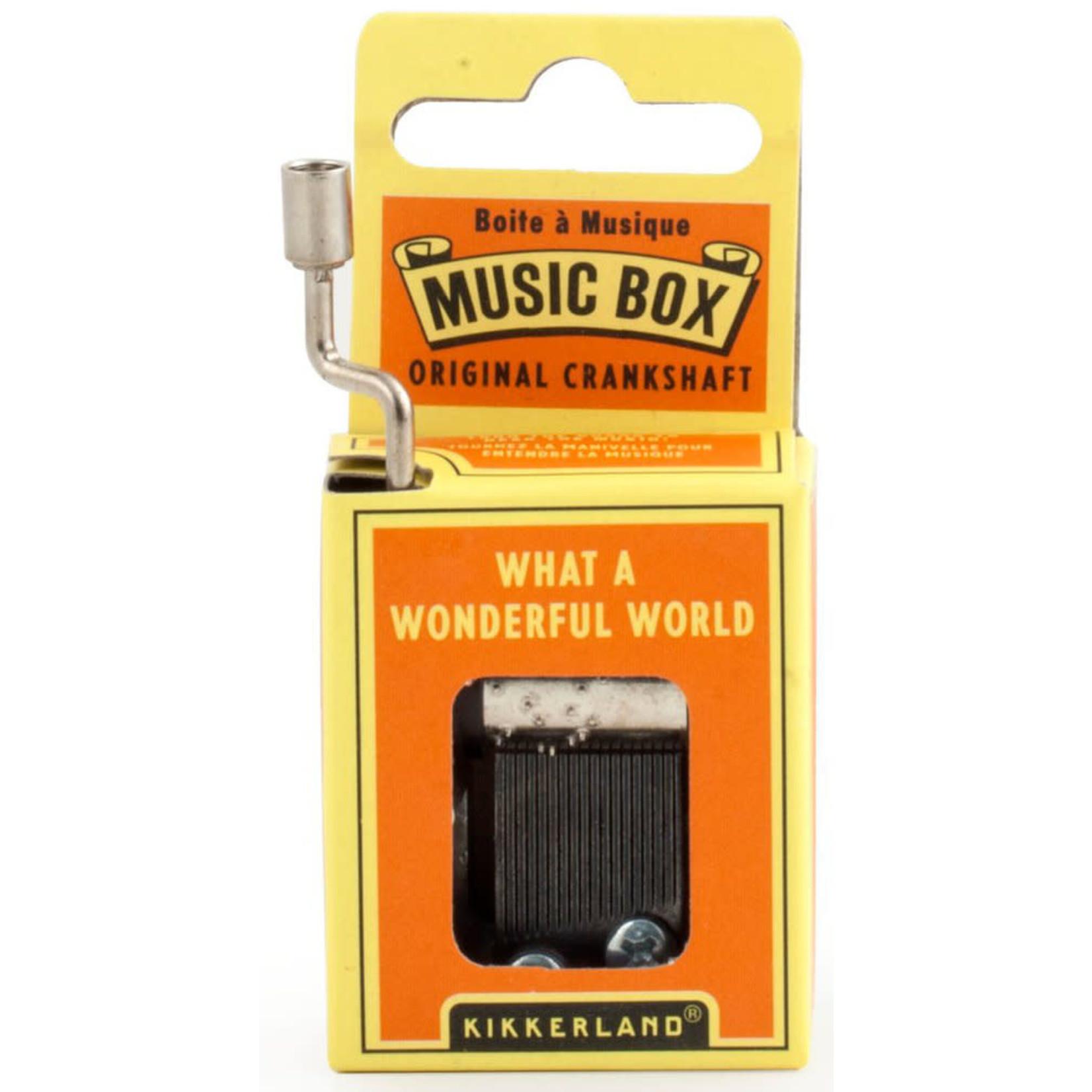 KIKKERLAND WHAT A WONDERFUL WORLD MUSIC BOX