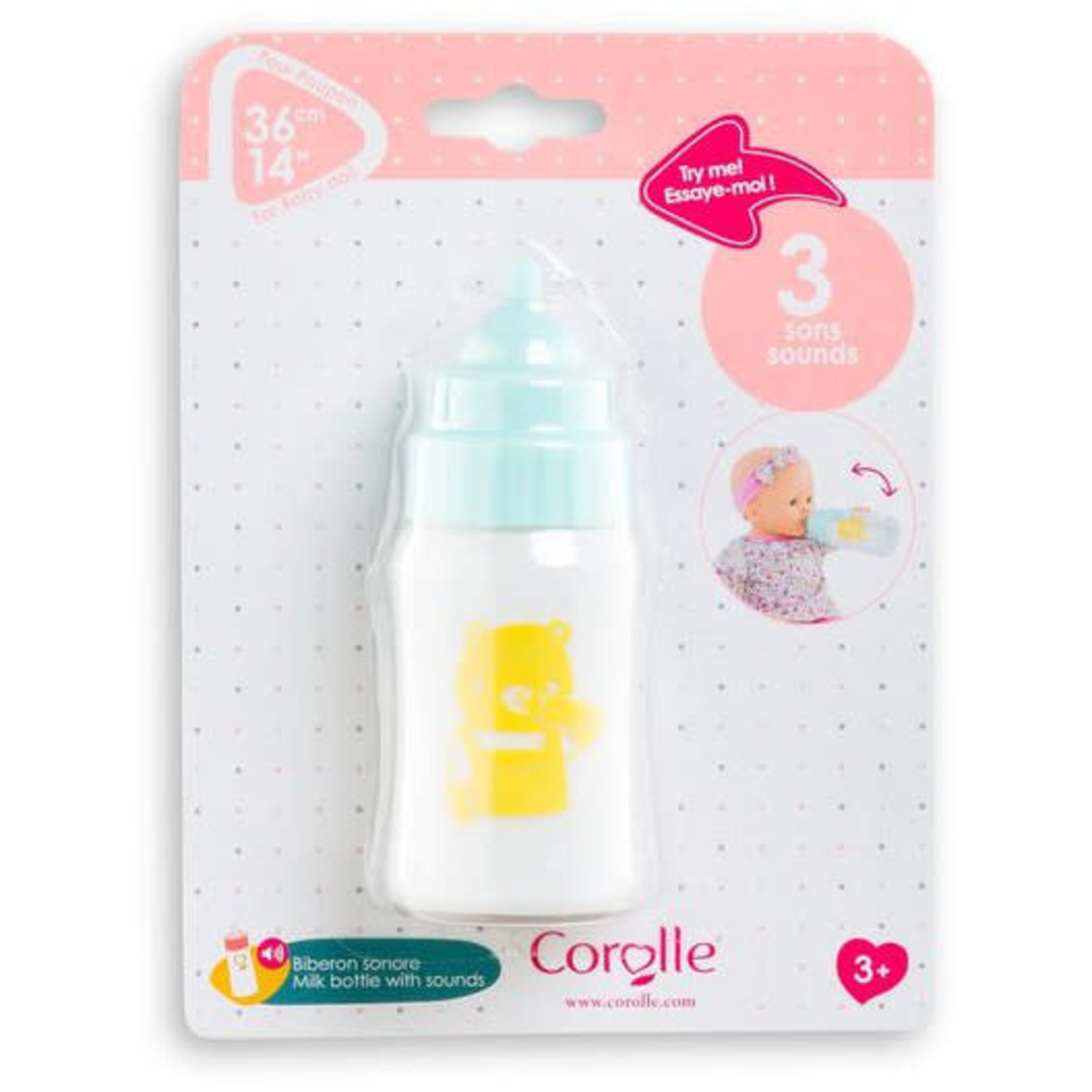 COROLLE MILK BOTTLE WITH SOUNDS