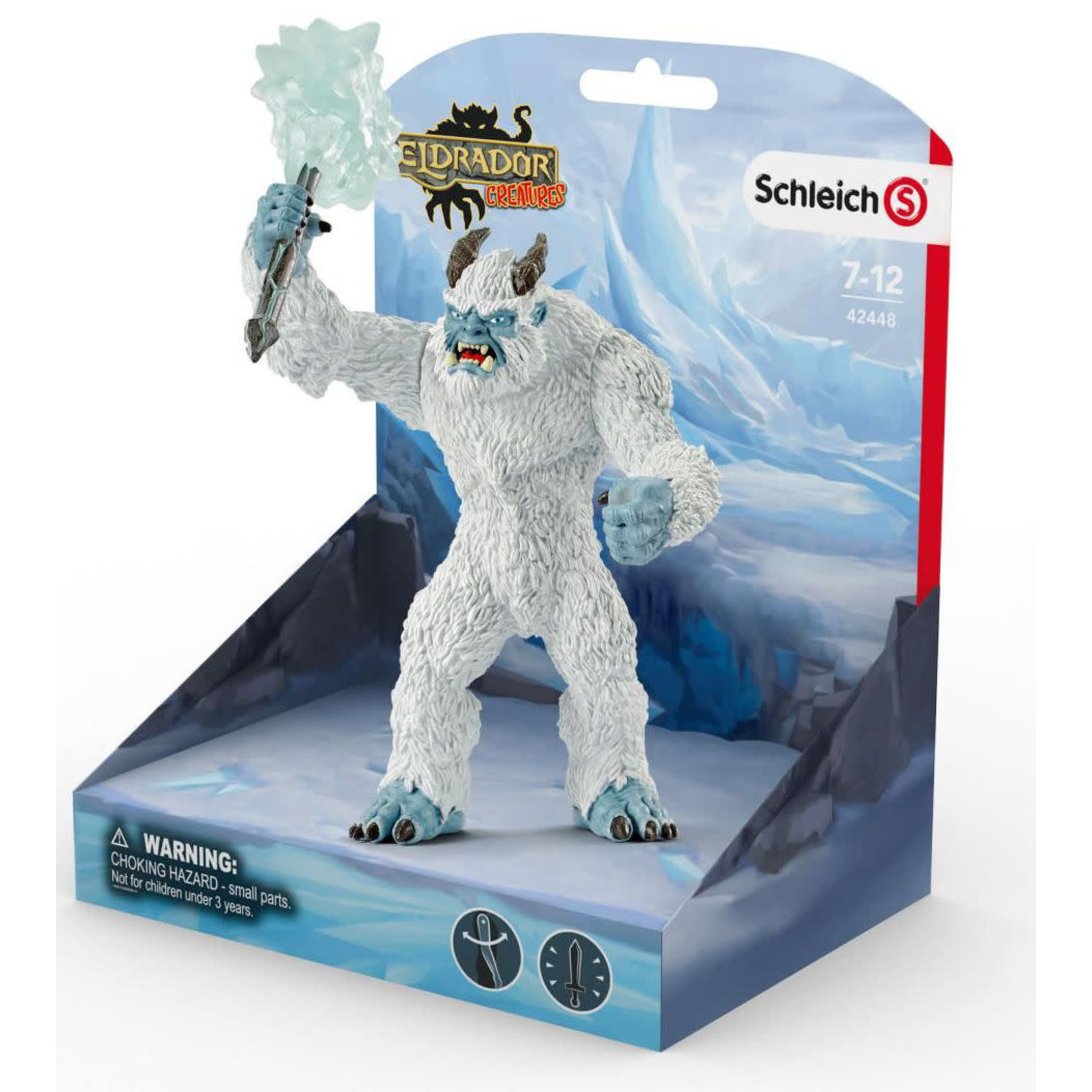 SCHLEICH ICE MONSTER WITH WEAPON