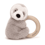 JELLYCAT BAILEY SLOTH RING RATTLE