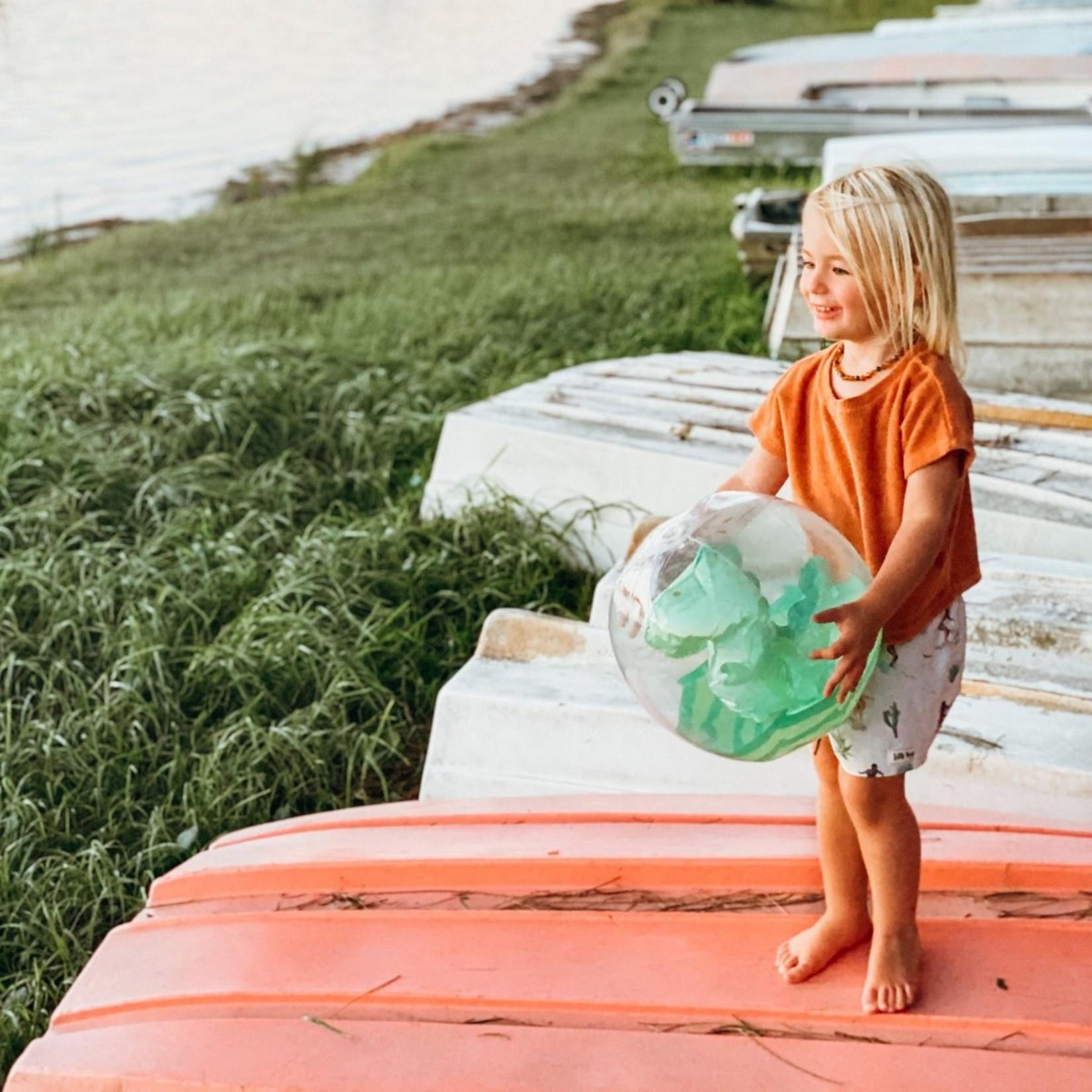 SUNNY LIFE INFLATABLE 3D BEACH BALL DINO