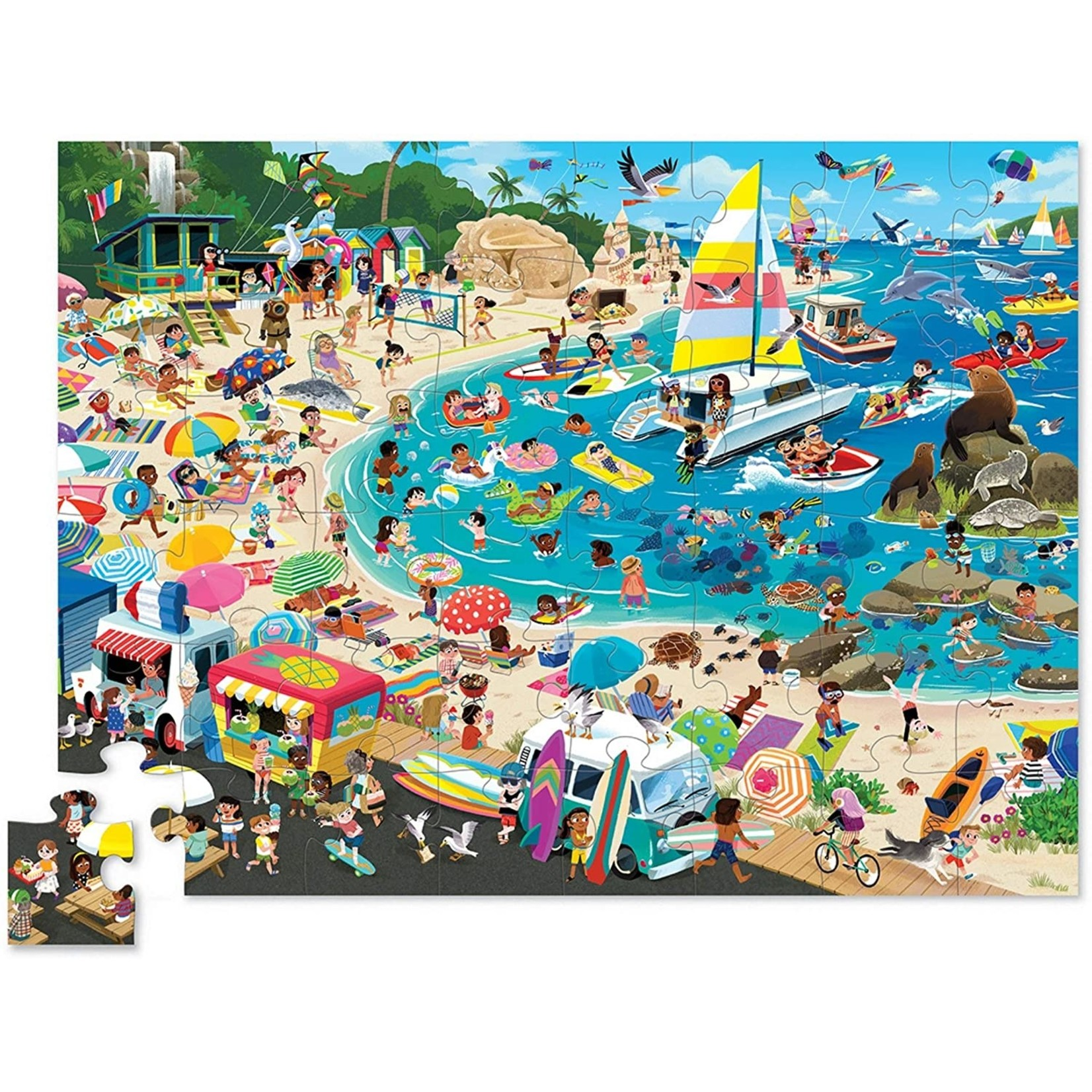CROCODILE CREEK DAY AT THE BEACH PUZZLE 48-PIECES
