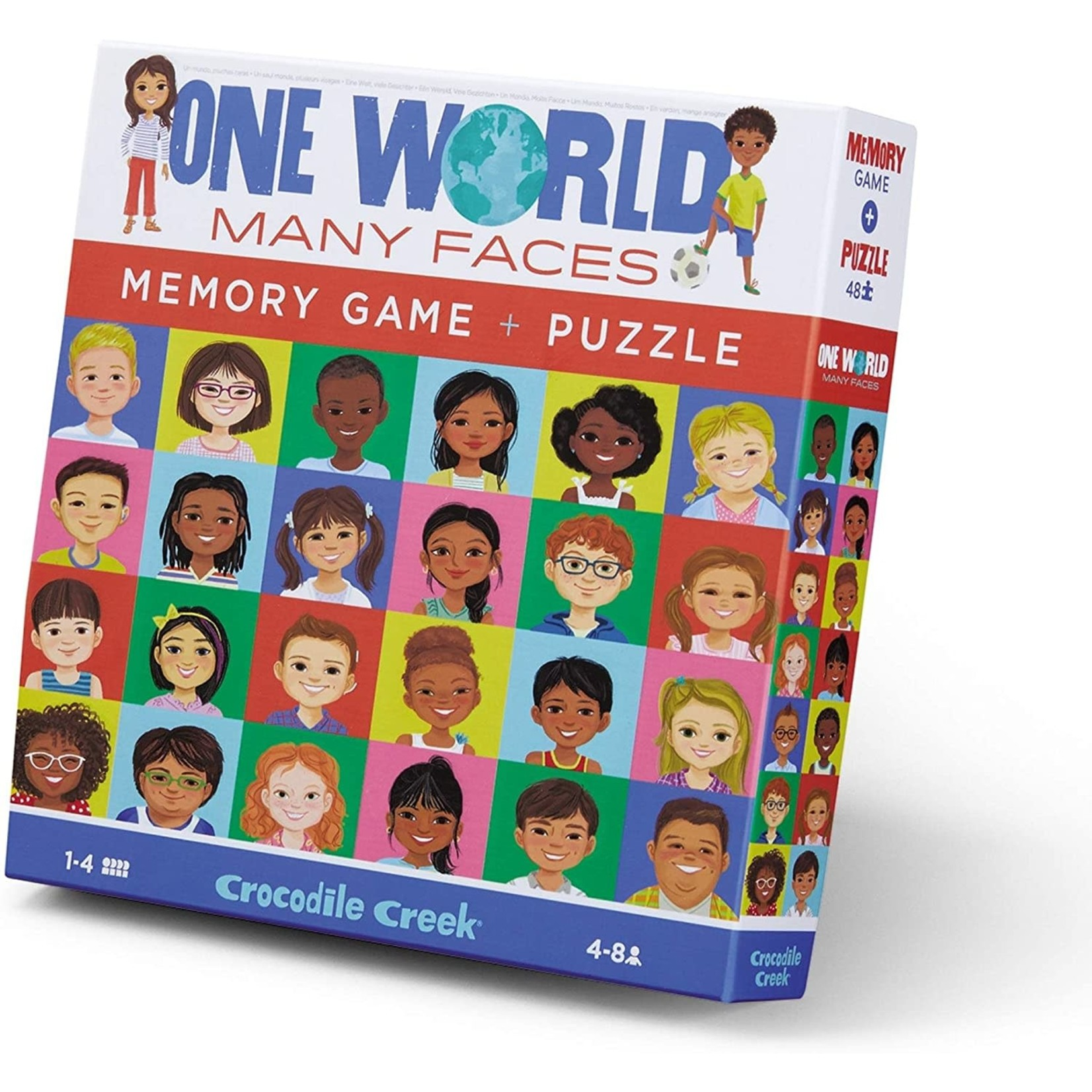 CROCODILE CREEK ONE WORLD, MANY FACES MEMORY GAME