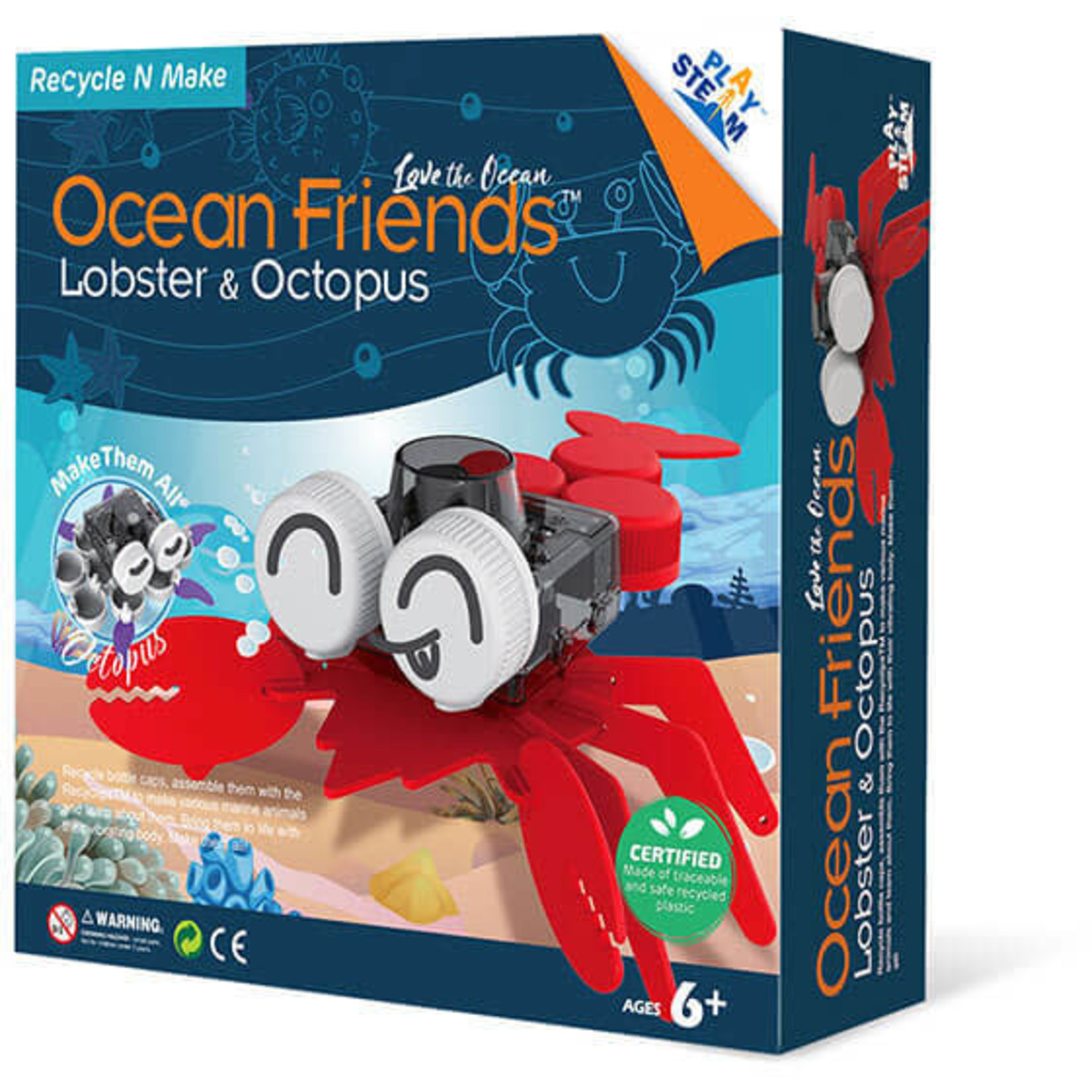 PLAY STEAM OCEAN FRIENDS LOBSTER & OCTOPUS
