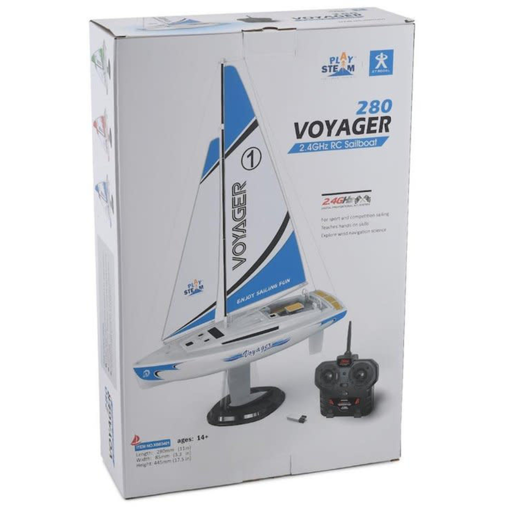 PLAY STEAM VOYAGER SAIL BOAT BLUE