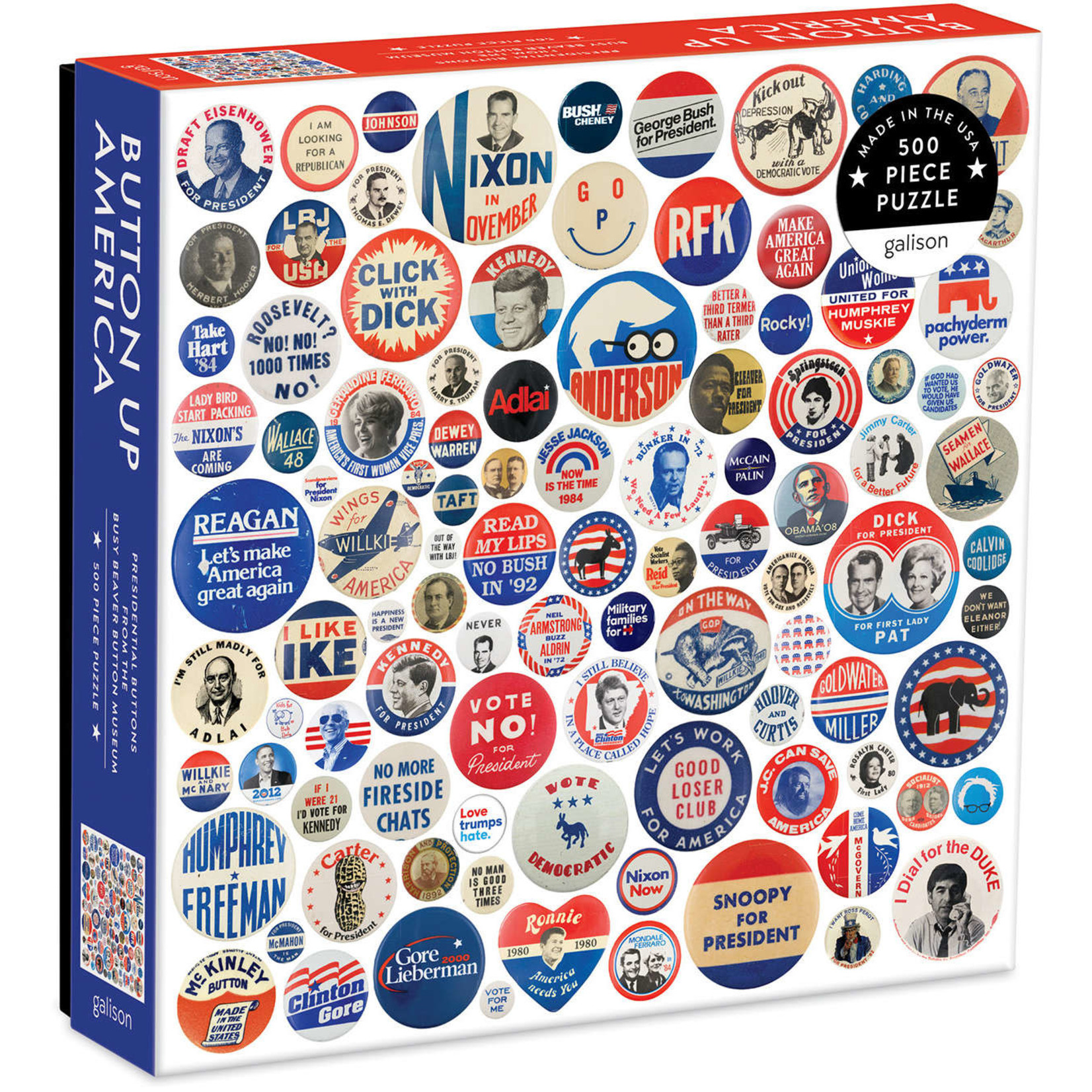 CHRONICLE BUTTON UP AMERICA 500-PIECE PUZZLE