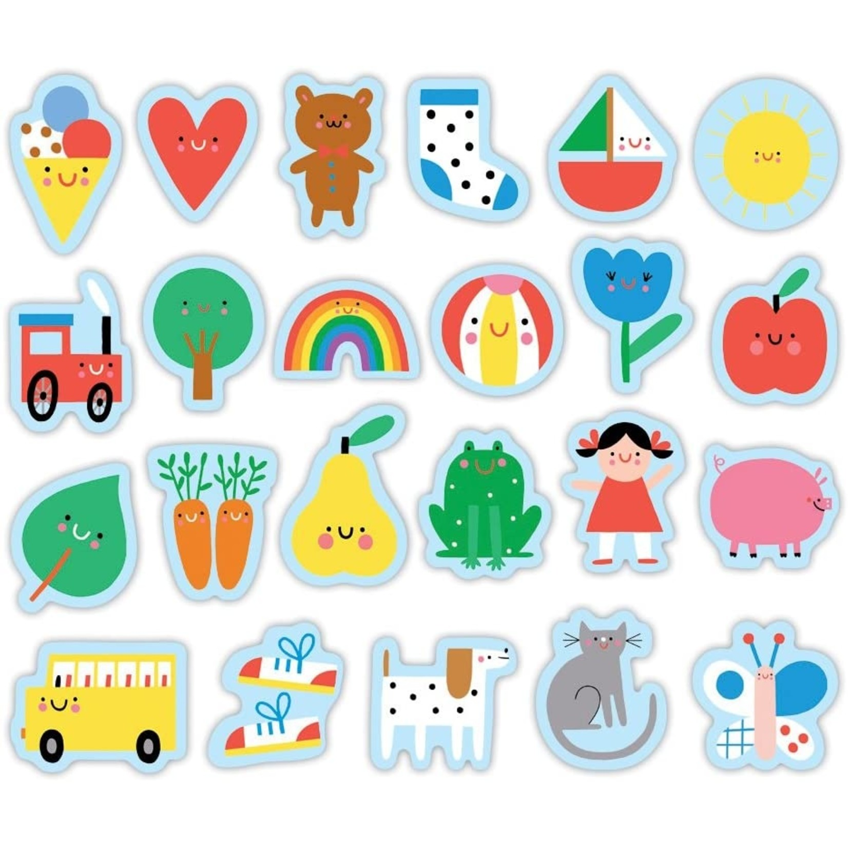MUDPUPPY MAGNETIC WOODEN SHAPES BABY'S FIRST WORDS