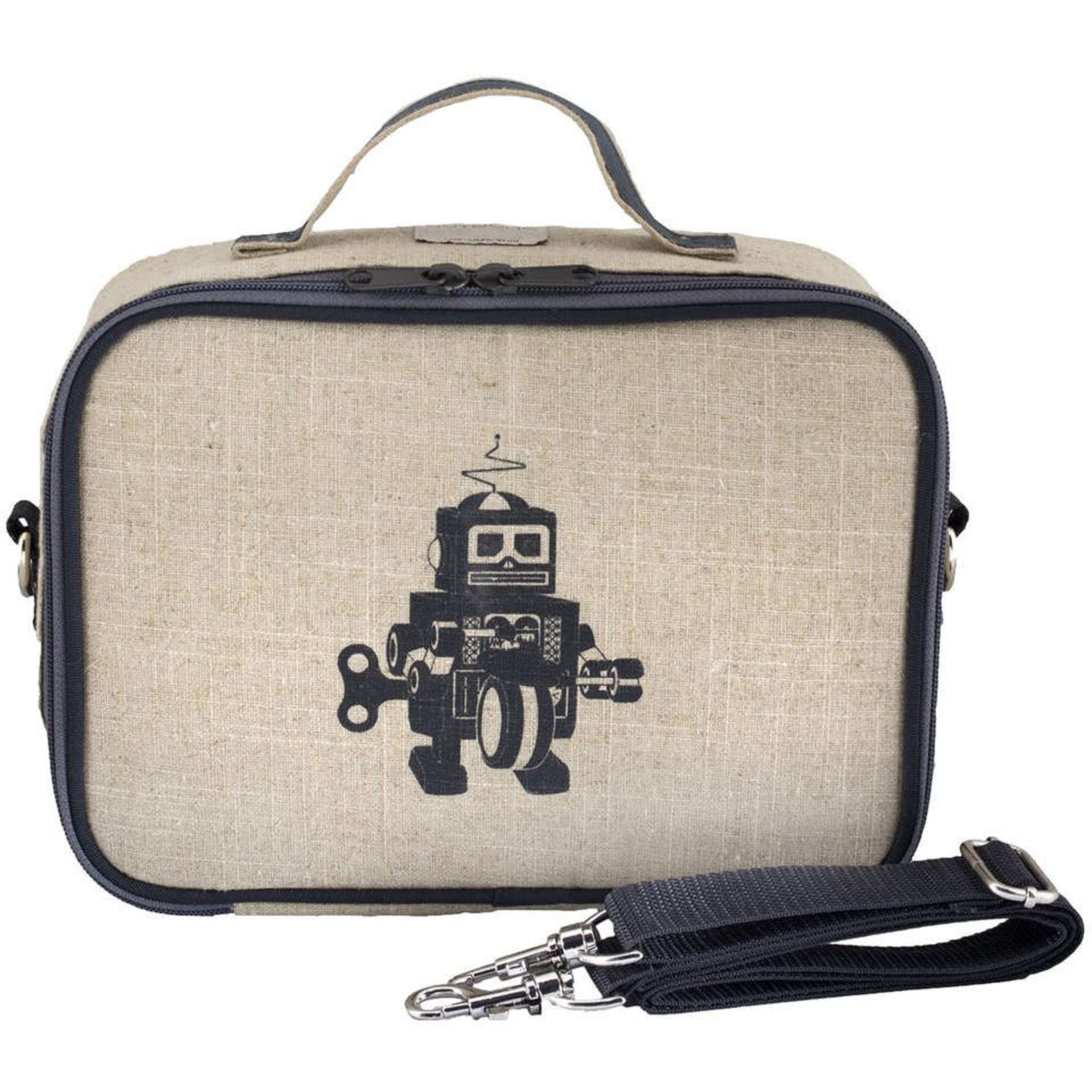 SOYOUNG GREY ROBOT LUNCHBOX