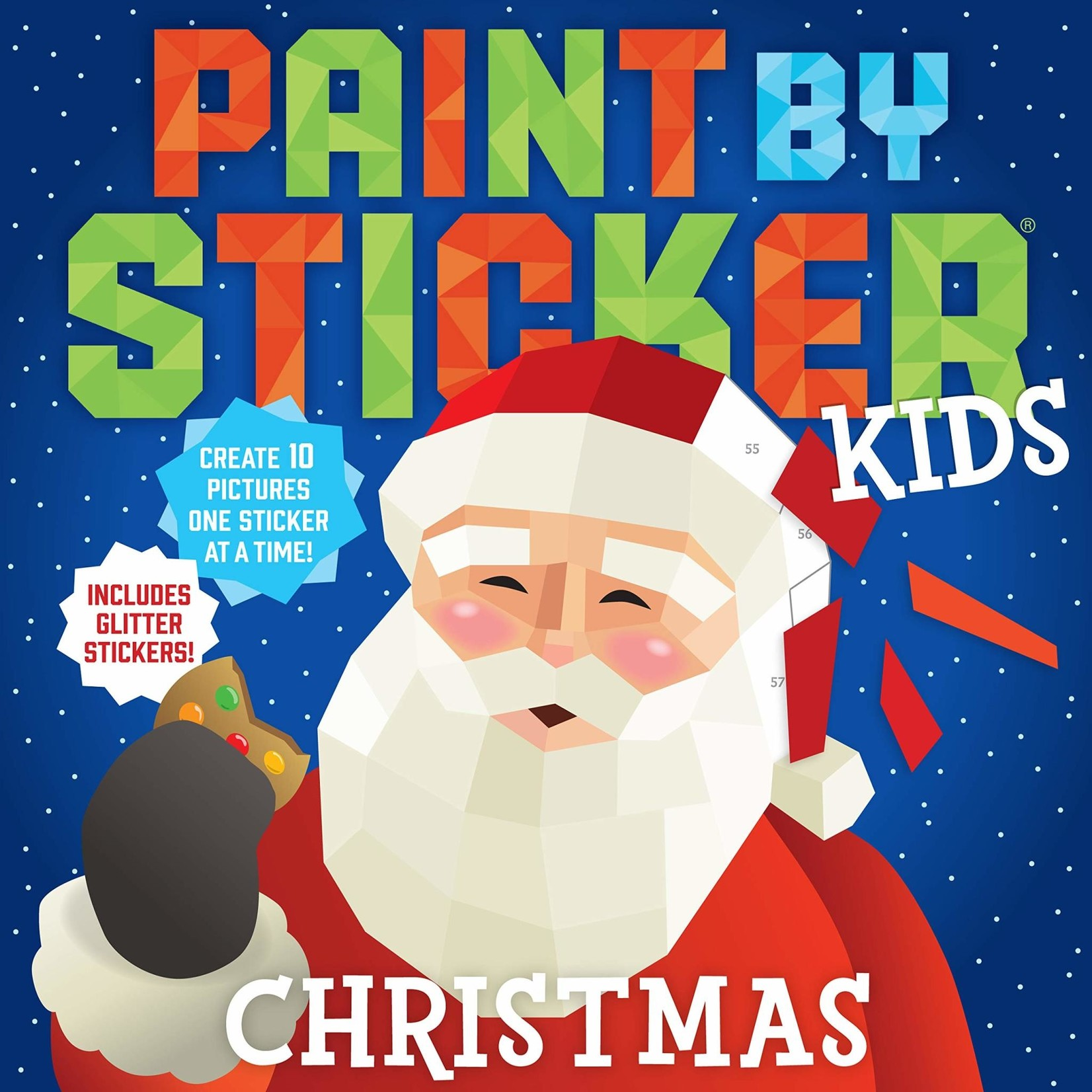 WORKMAN PUBLISHING Paint by sticker Christmas
