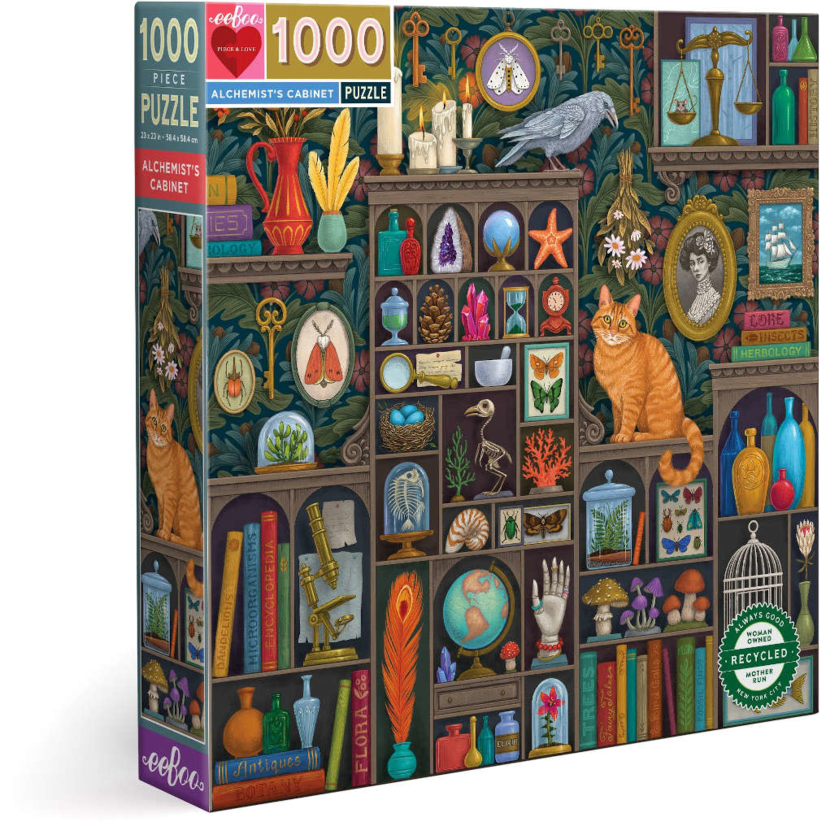 EEBOO Alchemist's Cabinet 1000 Pc Sq Puzzle