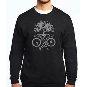 Chandail à col rond  Symbiose Bicycles Record - noir