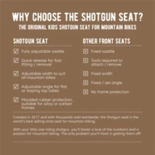 Shotgun SHOTGUN - Siège pour enfant sur cadre