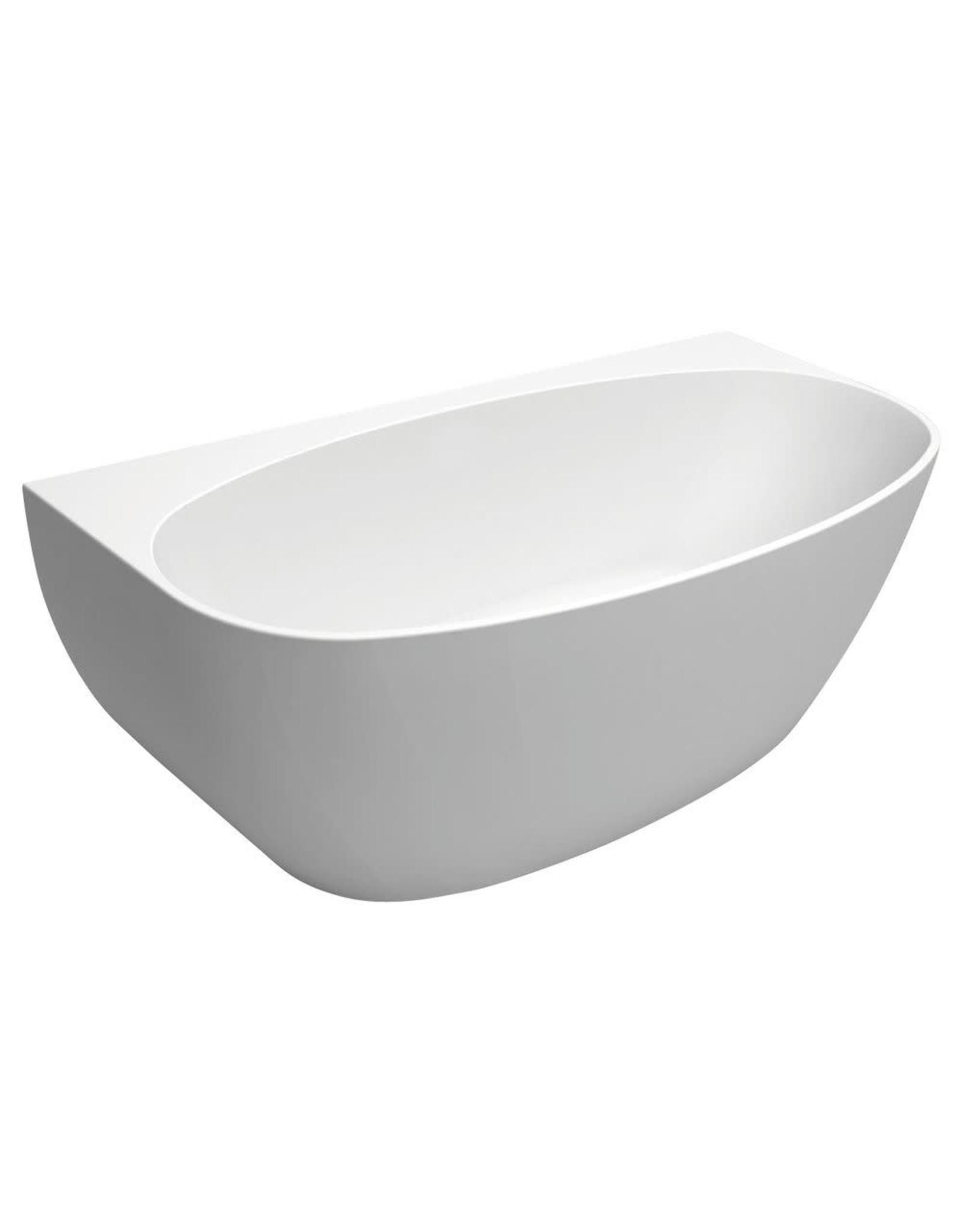 FIENZA 1700mm, FIENZA, KEETO Back-to-wall Acrylic Bath - INCLUDES CHROME WASTE