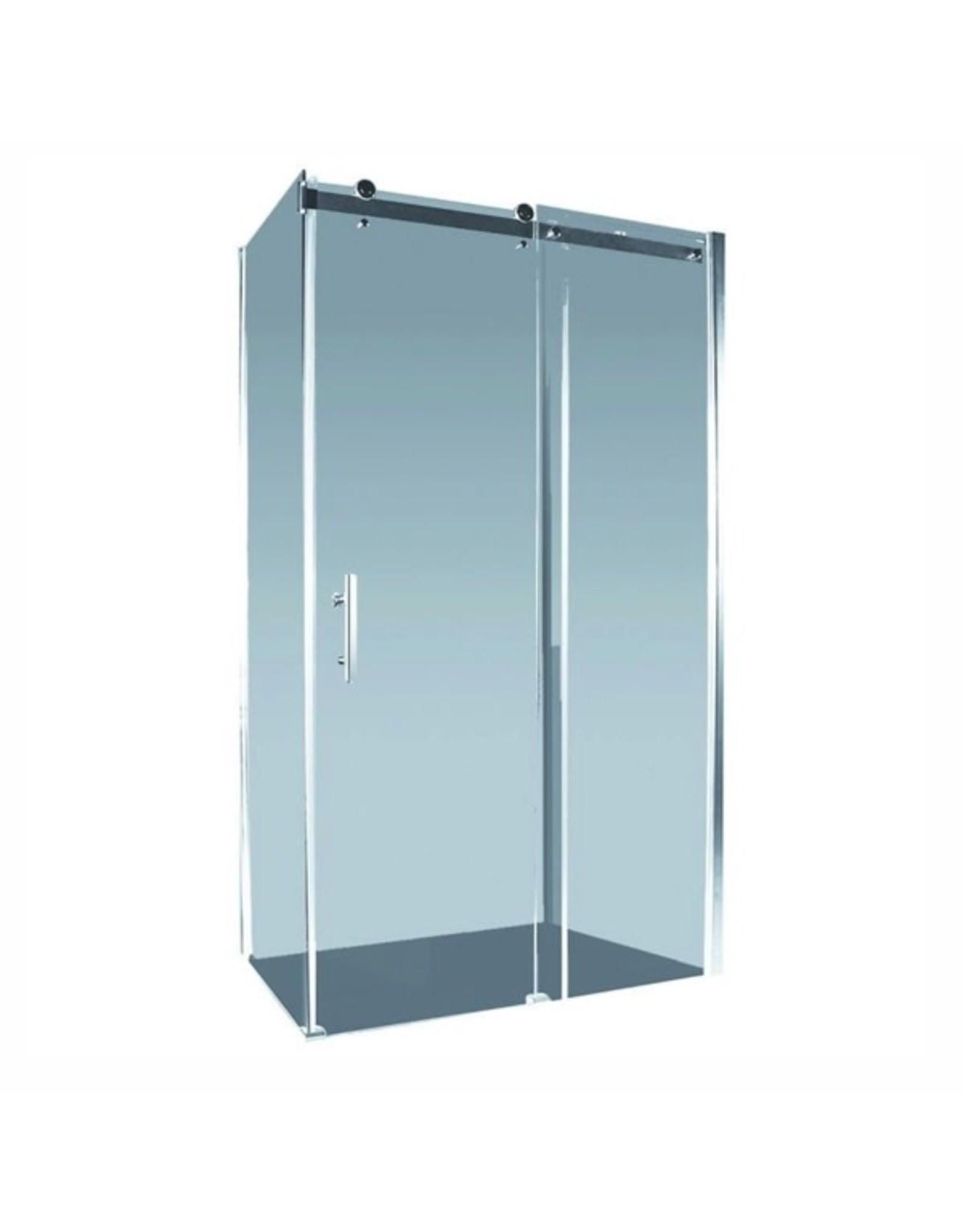 Alpine 1500mm Aspen Shower Screen Sliding Door Section 150cm, (Adjustement 1465-1485mm) Return Panel Not Included