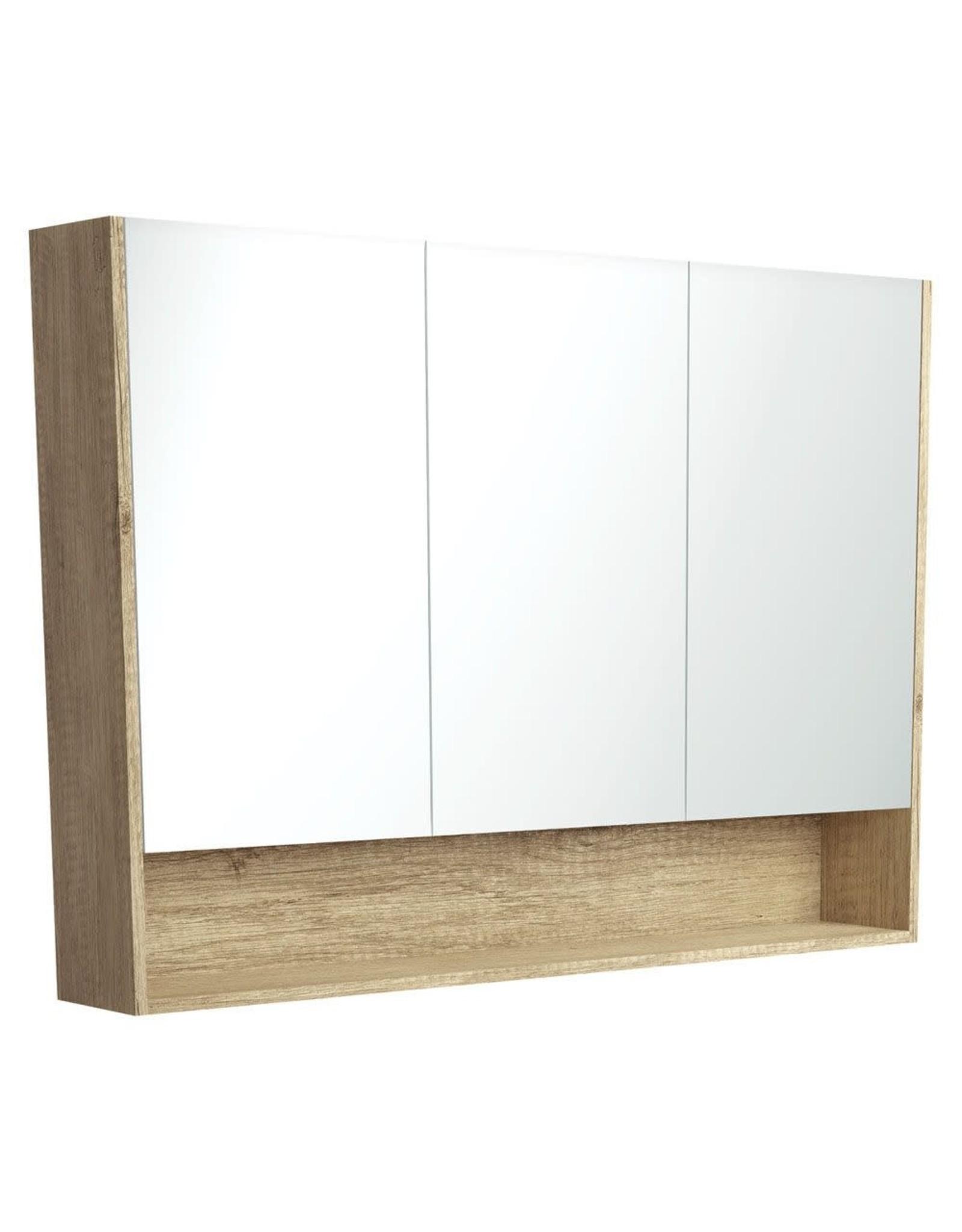 FIENZA 1200mm, FIENZA, Scandi Oak Undershelf Mirror Cabinet