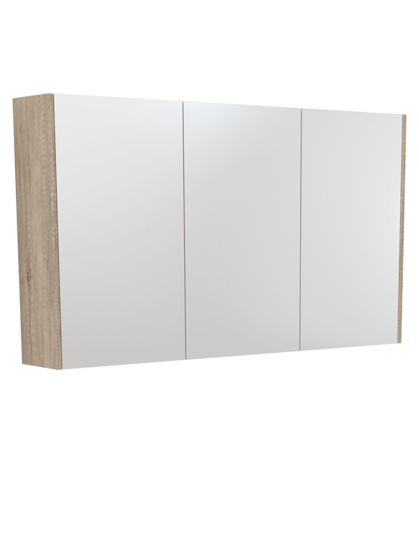 FIENZA 1200mm, FIENZA, Scandi Oak Mirrored cabinet with side panels