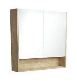 FIENZA 900mm, FIENZA,  AMATO Scandi Oak Undershelf Mirror Cabinet
