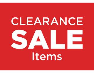 Clearance Sale Items