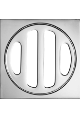 BAT Trims 50mm BAT Short Collar - Chrome - Square Floor Drain