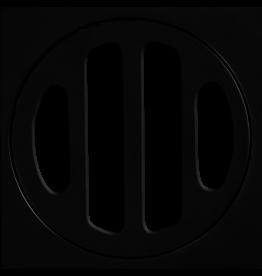 BAT Trims 50mm BAT Short Collar - Matt Black,  square floor drain