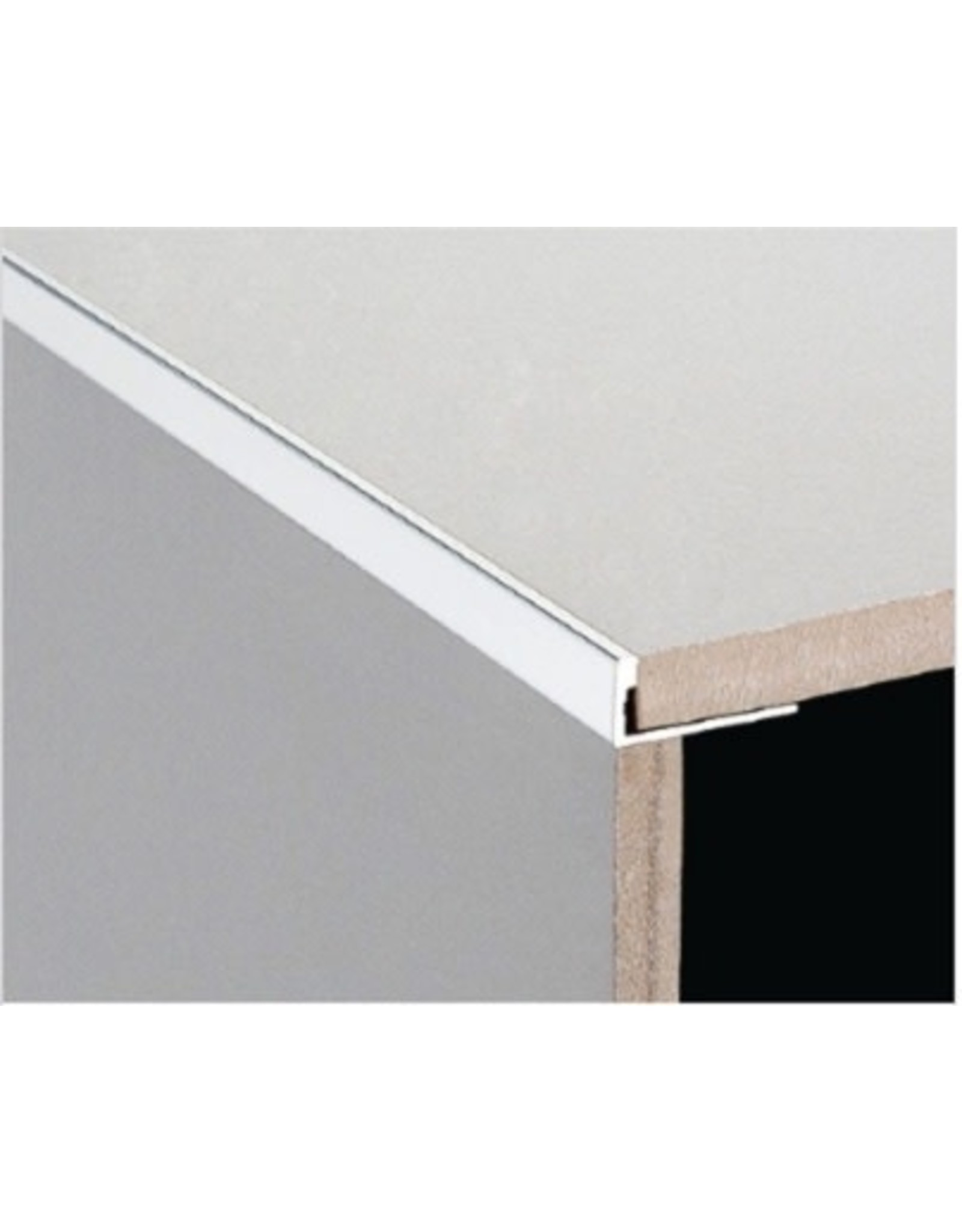 DTA 11mm DTA Aluminium L-Shape Trim Bright Silver
