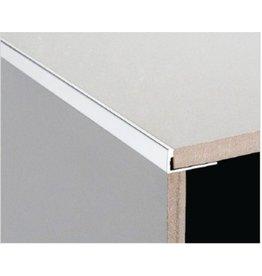 DTA 18mm DTA Aluminium L-Shape Trim Bright Silver