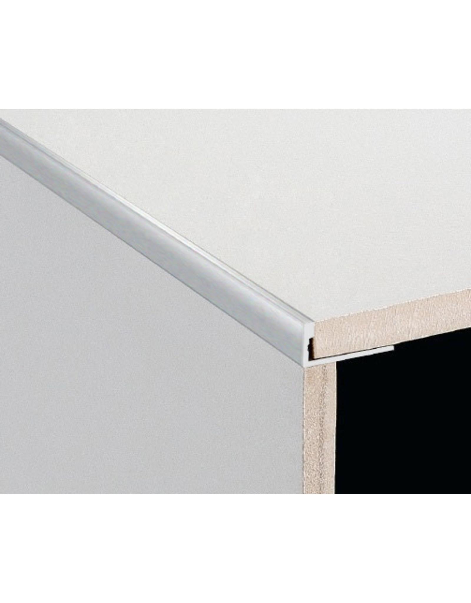 DTA 25mm DTA Aluminium L-Shape Trim Brushed Silver