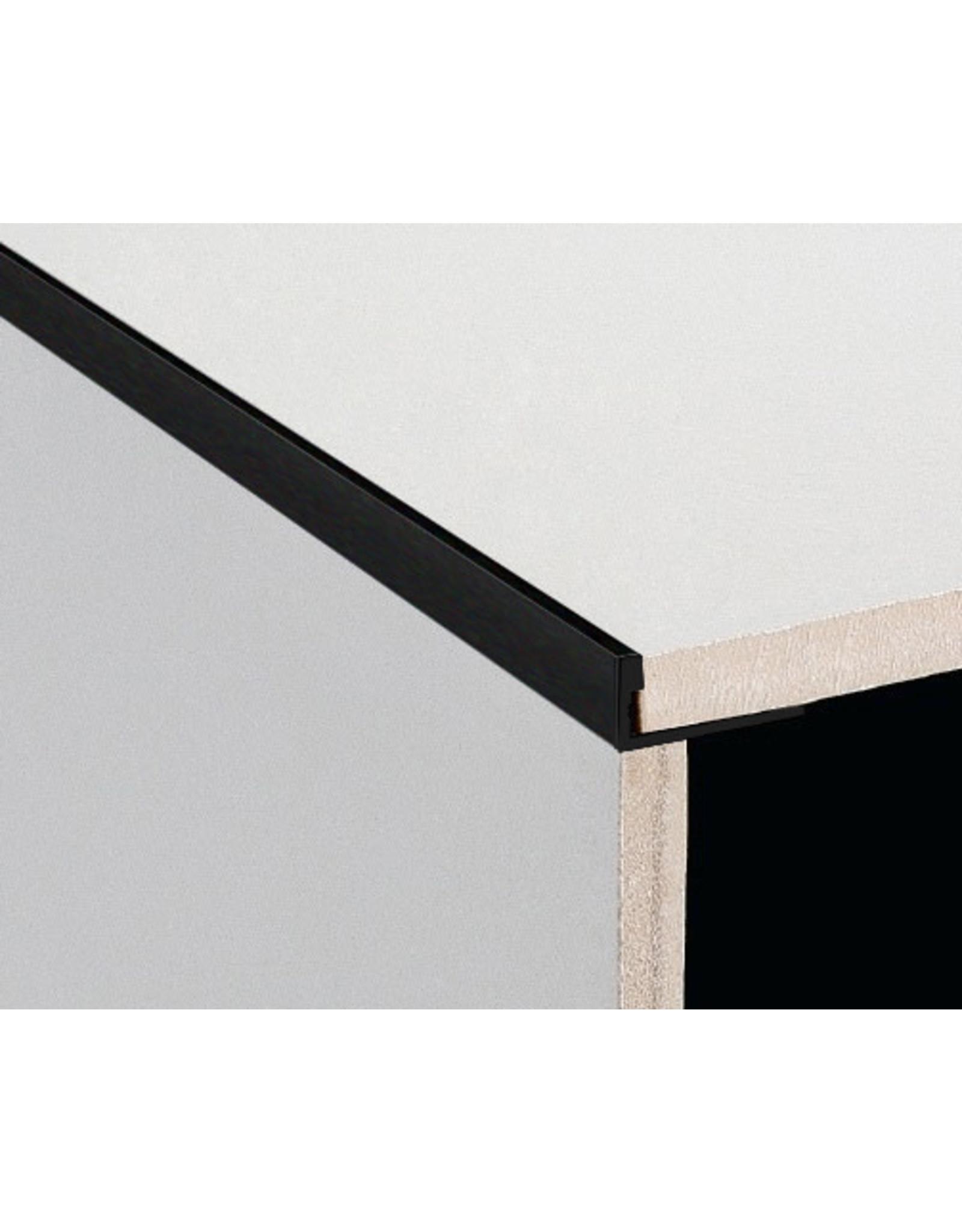 DTA 11mm DTA Aluminium L-Shape Trim Brushed Black