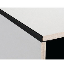 DTA 12mm DTA Aluminium L-Shape Trim, Brushed Black